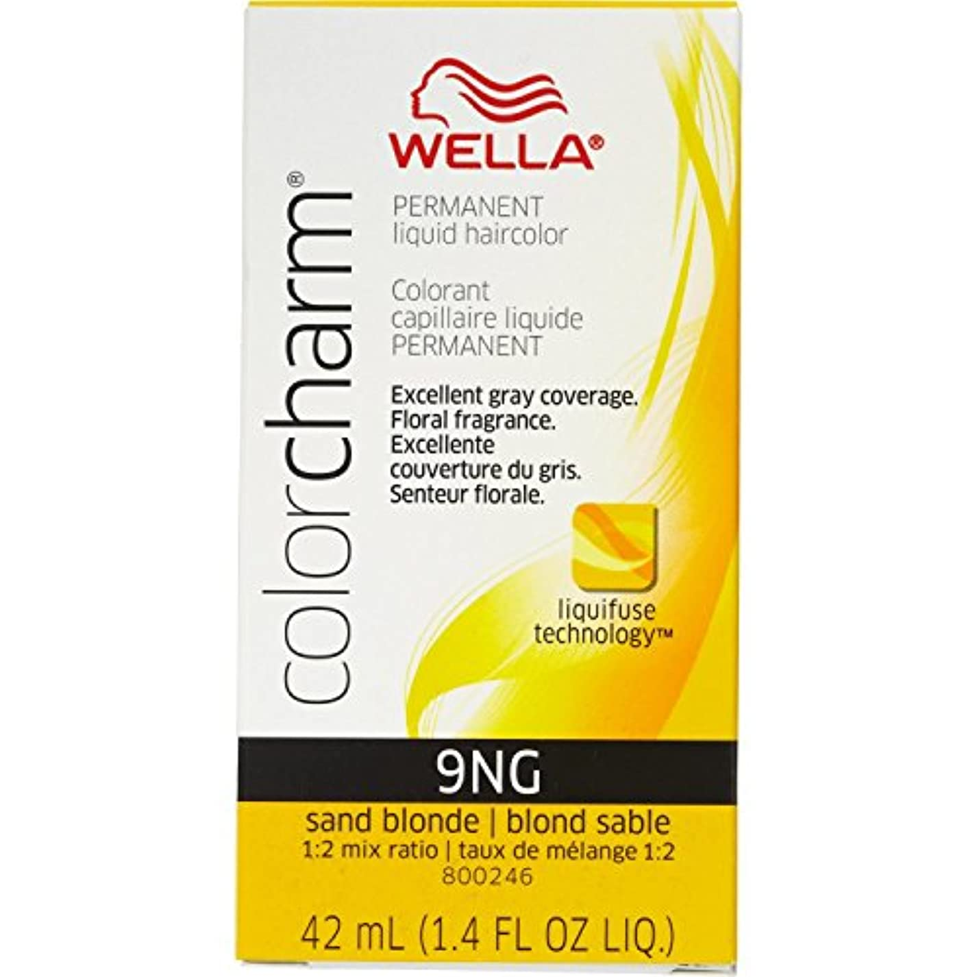 Wella 砂のブロンド色のチャーム液体パーマネントヘアカラー