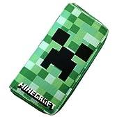 Minecraft マインクラフト Creeper クリーパー 布 ラウンド 長財布