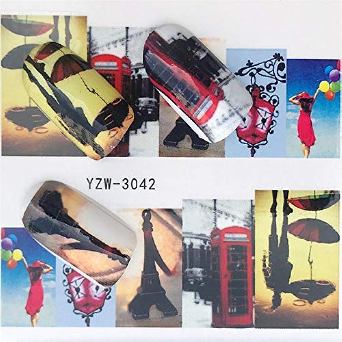 思われるスリーブ韻CELINEZL CELINEZL 5個ウォータートランスファーステッカーデカールフラワーステッカーネイル用、色:YZW-3042
