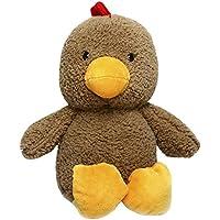 幼児期のゲーム 30cmぬいぐるみかわいい動物のおもちゃのおもちゃクリエイティブドール(茶色の鶏)