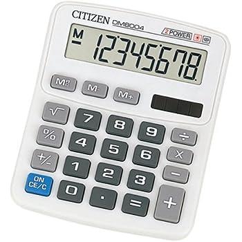 シチズン ミニデスク型電卓(8桁表示) DM8004Q