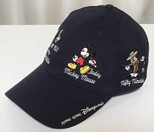 ミッキー キャップ 香港ディズニーランド 大人用 野球帽 帽子 海外限定 歴代 刺繍 WDW