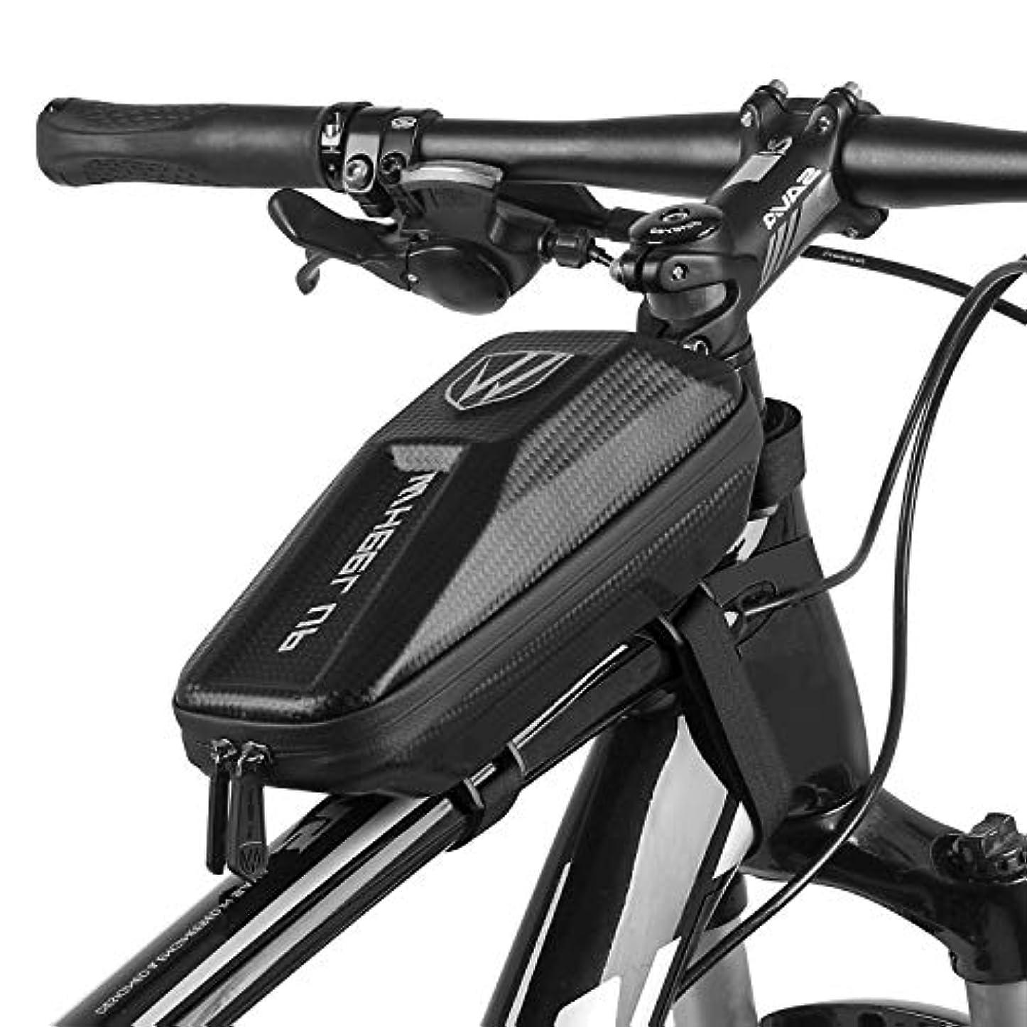 前者どう?インデックスElegant Choise 自転車フレームバッグ 防水 バイクトップチューブバッグ 自転車バッグ サイクリングフレームパック ダブルジッパーデザイン