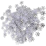 Baoblaze 紙吹雪 クリスマス スノーフレーク パーティー デコレーション 2色選べ - A