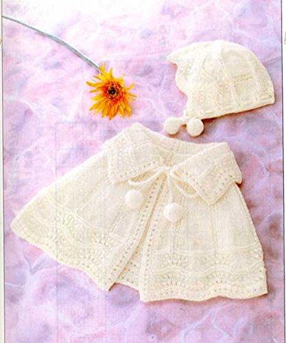 【ハマナカ】かわいい赤ちゃんで編む「おでかけベビー・ケープ&帽子」編み図付きキット(2番5玉)【ベビーニット】【手編みキット】