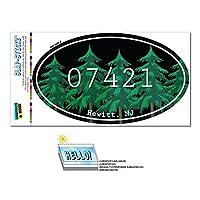07421 ヒューイット, NJ - 森林 - 楕円形郵便番号ステッカー