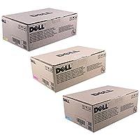Dell p586K、k756K、m802K標準トナーカートリッジセット色のみ(CMY)