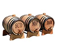 Personalized 1 Liter Oak Whiskey Barrel by My Personal Memories