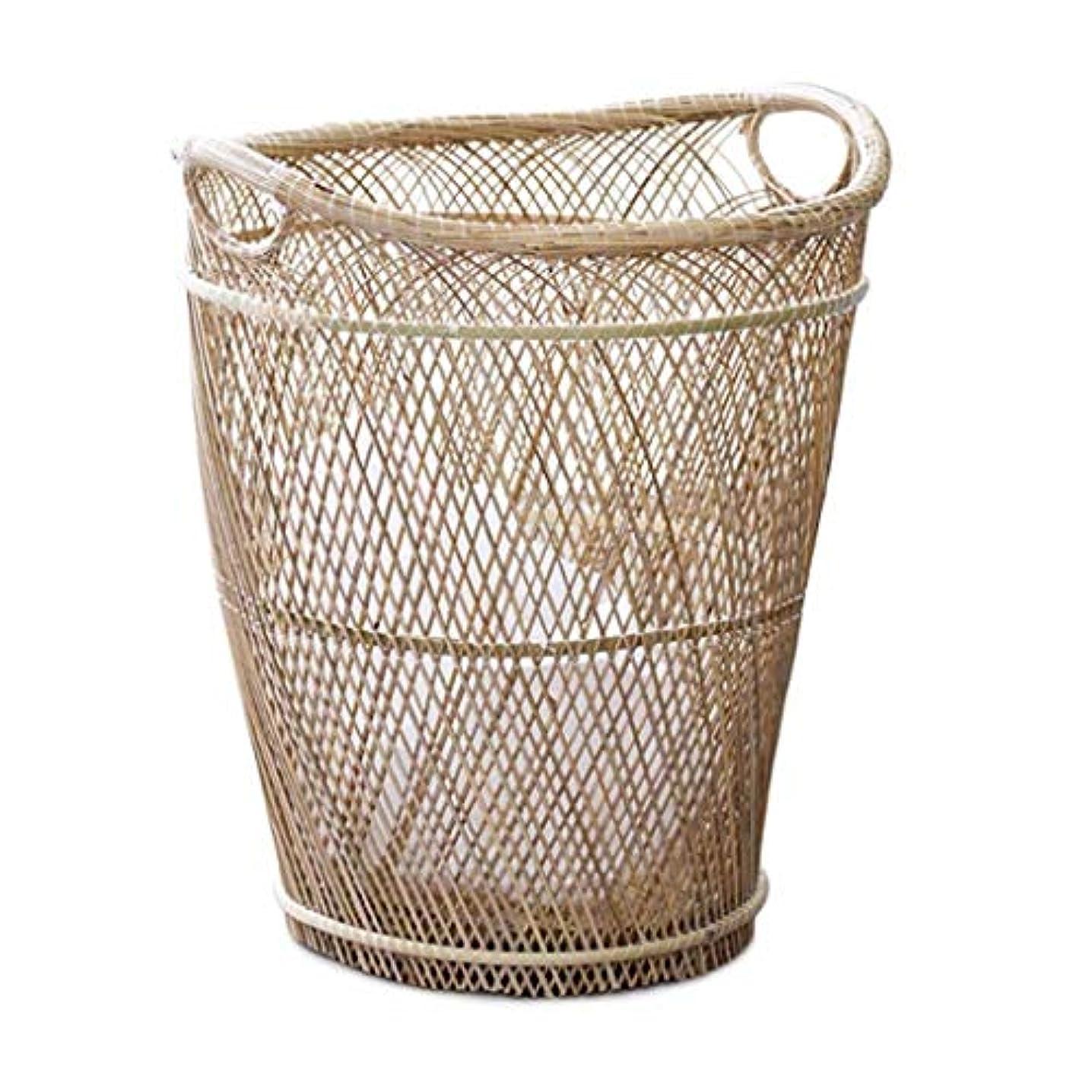 なめる潮演劇QYSZYG 収納バスケット、手織りバスケット、ハンドルバスケット、2サイズ 収納バスケット (サイズ さいず : L l)