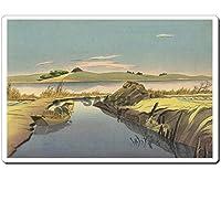 14008 浮世絵マウスパッド 土屋光逸 - 水郷の秋