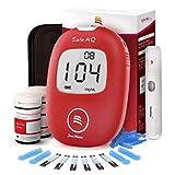 血糖測定器、ポータブル医療用毎日の糖尿病計、大画面グルコース計、デジタルハンドヘルド血糖モニター糖尿病テストメーターモニターキット付き50テストストリップ、50ランセット