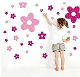 ウォールステッカー 薔薇 花 ハナ フラワー Flower ピンク レッド マゼンダ 桃色
