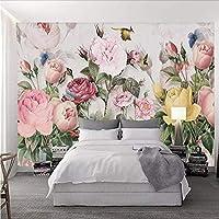 Wuyyii 写真の壁紙3Dの花の壁画ヨーロッパスタイル牧歌的な風景壁紙用壁3 Dリビングルーム寝具ルーム家の装飾-120X100Cm