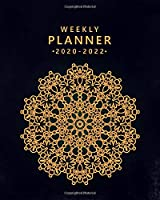 2020-2022 Weekly Planner: Nifty 3 Year Daily Planner & Organizer with Weekly Spread Views - Pretty Gold Mandala Three Year Schedule Agenda with Inspirational Quotes, Notes, Vision Boards & More