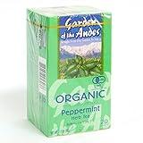 ペパーミントティー ガーデンオブアンデス 有機JAS認定オーガニックハーブティー ティーバッグ20袋×4箱セット