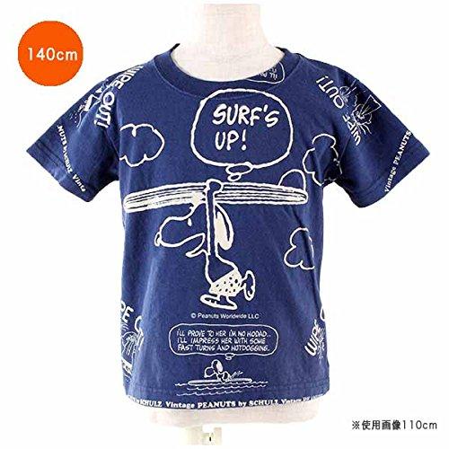 スヌーピー Tシャツ サーフアップ柄 140cm ネイビー ブーフーウー boofoowoo