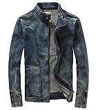 (ラクエスト) Laquest デニム ライダース ジャケット メンズ ジップアップ (XL)