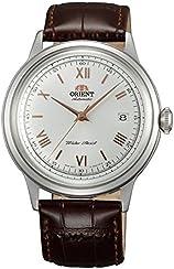 [オリエント]ORIENT 自動巻 クラシックオートマチック ローマ 海外モデル 国内メーカー保証付き Bambino(バンビーノ)新型 ホワイト SAC00008W0  腕時計