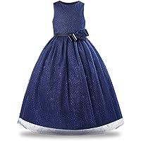 BONNY BILLY Flower Girl Dress Glitter Wedding Maxi Gowns