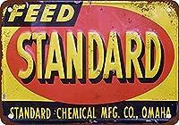 標準化学フィード メタルポスター壁画ショップ看板ショップ看板表示板金属板ブリキ看板情報防水装飾レストラン日本食料品店カフェ旅行用品誕生日新年クリスマスパーティーギフト