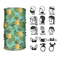 ターバン ヘッドバンド ヘアバンド バンダナ ヘッドスカーフ フェイスマスク アイマスク リストバンド キャップ パイナップル 熱帯 果物 多機能 速乾 伸縮性 柔らかい 男女兼用 フリーサイズ