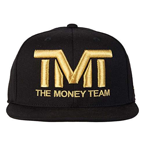 (ザ・マネーチーム) THE MONEY TEAM tmt-h006-3kg THE MONEY TEAM ザ・マネーチーム COURTSIDE (黒ベース&金ロゴ) 刺繍 キャップ(帽子 フロイド・メイウェザー