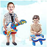 Wishtime 日本初 2in1 ギター&ピアノ 楽器玩具 おもちゃ Rockin 音楽 電子 楽器 知育玩具 学園祭に大活躍 【お誕生日プレゼント】