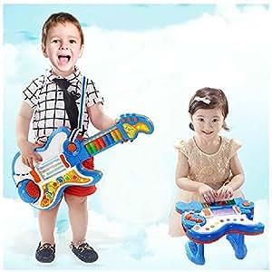 Wishtime 日本初 2in1 ギター&ピアノ 大変身 おもちゃ ギター Rockin 音楽 電子 楽器 知育玩具 学園祭に大活躍 【お誕生日プレゼント】