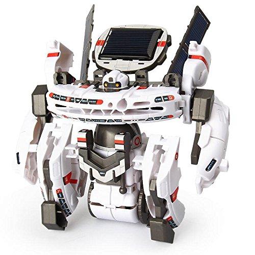 Hicolor ホワイト スペースロボット 7種類に変形できる立体モデル ソーラーロボットキット ソーラーパワーで動く3Dプラモデル ロボットキット 知育玩具 10歳以上 想像力育成・自由研究・夏休み・ 電気工作