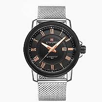 BINZI 高品質ステンレスメンクォーツ 腕時計 アナログ表示 日常生活防水 ユニセックス NV-9052 メンズ