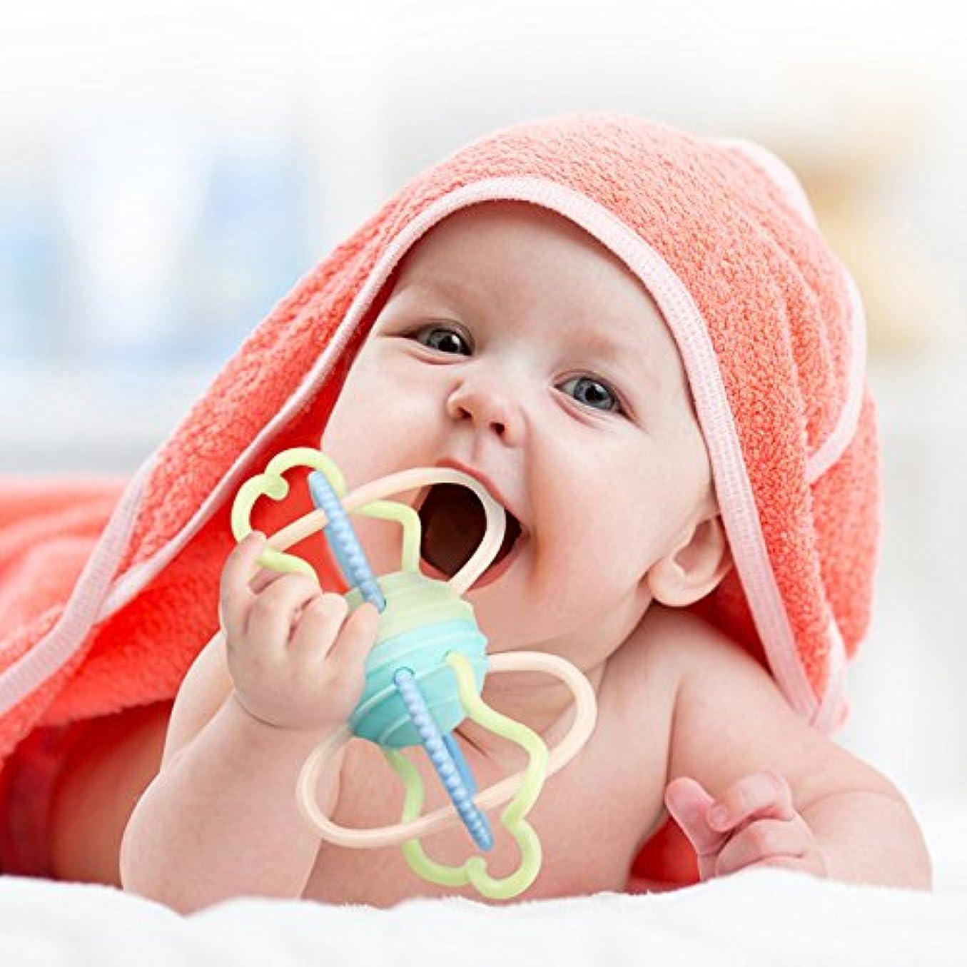グリップアラスカマットUMESHI乳児幼児インテリジェンス開発ソフトTeetherベルRattlesベビートイボールテクスチャで持ち手触覚Senses