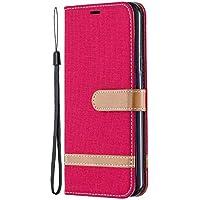 Tosim LG K50 ケース 手帳型 カード収納 高級PUレザー スタンド機能 マグネット LGK50 財布型 ケース スマホケース 全面保護 衝撃吸収 スマホカバー - TOBFE020237 赤
