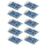 10個 TP4056充電モジュール充電器 5V Micro USB 1A保護充電モジュール付き18650リチウムバッテリ充電ボード