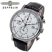 ツェッペリン ZEPPELIN 腕時計 7578-1 ノルドスタン クォーツ 41mm レザーベルト [並行輸入品]