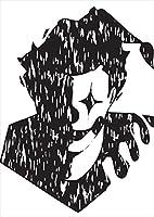igsticker ポスター ウォールステッカー シール式ステッカー 飾り 728×1030㎜ B1 写真 フォト 壁 インテリア おしゃれ 剥がせる wall sticker poster 011828 ピエロ 人物 白黒