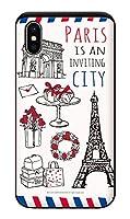 iPhoneXS iPhoneケース (ハードケース) [ミラー付き/カード収納/耐衝撃] Oilshock Designs (オイルショックデザインズ) Inviting City CollaBorn (ホワイト) (iPhoneX対応)