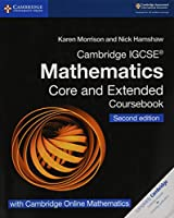 Cambridge IGCSE® Mathematics Coursebook Core and Extended Second Edition with Cambridge Online Mathematics (2 Years) (Cambridge International IGCSE)