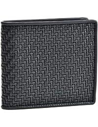 Zegna(ゼニア) 財布 メンズ PELLE TESSUTA 2つ折り財布 NERO E1136P-PTA-NER [並行輸入品]