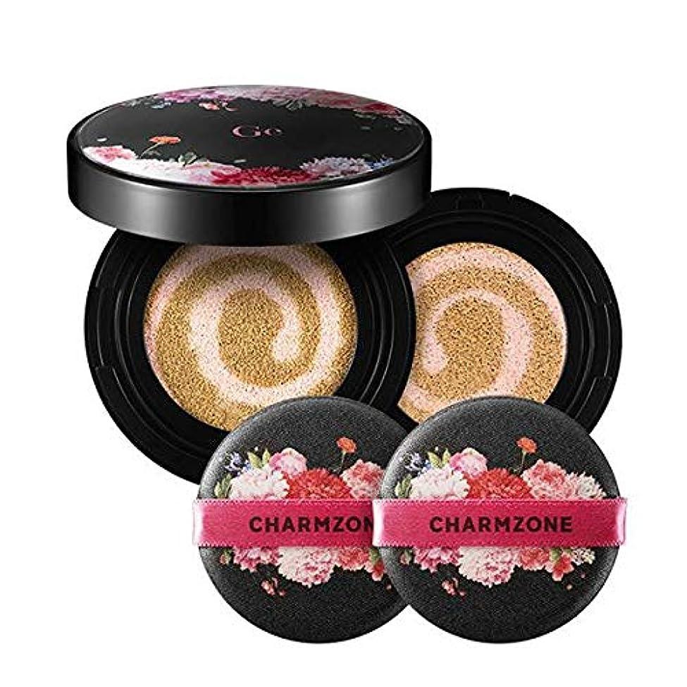 完全に乾く静的乳製品韓国コスメ チャームゾーン Ge カバークッションファンデーションEX レフィル付き GECFEX