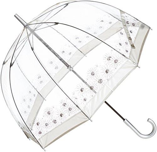 (ムーンバット)MOONBAT フルトン 婦人ビニール長傘 バードケージ 花柄 21-152-54110-00 90-65 シルバー 65cm