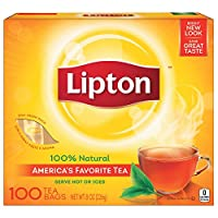 Lipton ブラックティーバッグ、100%天然茶、100 CT 4パック