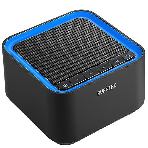 AVANTEK ホワイトノイズマシン USB給電 20種のサウンド 30段階の音量幅 7時間自動オフタイマー付き 快眠グッズ ブラック
