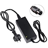 BestHot 42V 2A Power Adapter PowerFast 3-Prong Inline Connector Battery Charger for 36V Pocket Mod, Sports Mod, and Dirt Quad