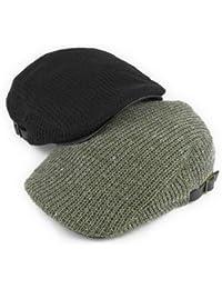 ノーブランド品 ツバ裏PUネップニットハンチング ヤング帽子