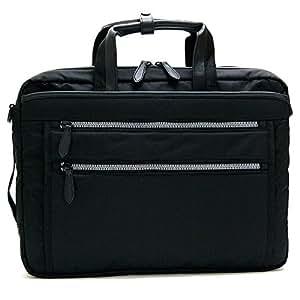 鞄/カバン ビジネスバッグ メンズ B4ファイル対応 ファッション 軽量撥水!PC(パソコン)用ポケット付き!URビジネスバッグ B4ファイル対応 ブラック(黒)