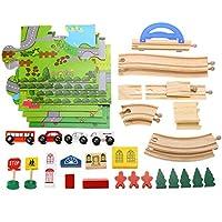 MeiLiio おもちゃマグネ 子供用 グライディング 車玩具 木製ローラーコースター 4層はしご ダイキャスト おもちゃ ブロック おもちゃ ミニ スピードカー おもちゃ 子供 幼児 子供 女の子 男の子