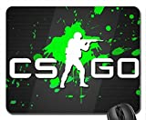 CSGO Green Splatter Mouse Pad, Mousepad (10.2 x 8.3 x 0.12 inches)