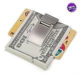 マネークリップ マネークリップシンプルな財布ステンレス鋼マネークリップ男性と女性の財布の金属クリップ