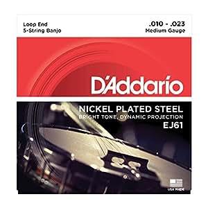 【国内正規品】 D'Addario ダダリオ バンジョー弦 J-61 5-String/Medium/Nickel