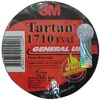 3Mタータン1710ビニール経済的な一般的な目的絶縁電気テープ、176度F、長60' x 3/ 4インチ幅、ブラック10パック